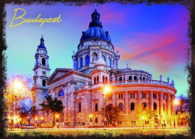 Basilica - Budapest - sunset