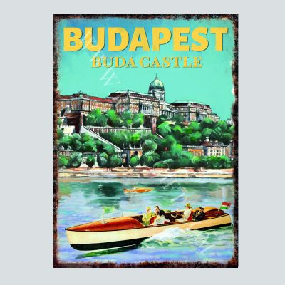 Buda Castle and motor boat
